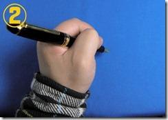プロフィット21レフティ 左利き 持ち方 押して書く 写真