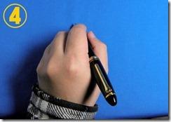 プロフィット21レフティ 左利き 持ち方 書きやすい 写真