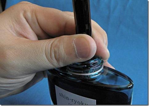 カスタム823 インク吸入 プランジャー 注意 写真