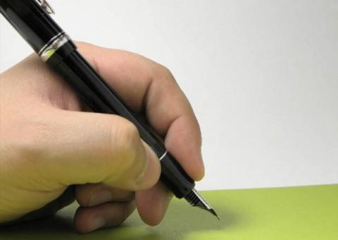 ペンが立ちます とある左利きの持ち方